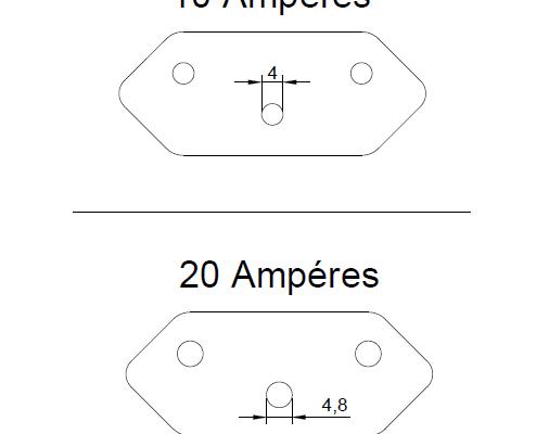 Diferença das tomadas